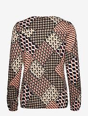 Soyaconcept - SC-FELICITY AOP - long sleeved blouses - rose dawn combi - 1