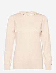 Soyaconcept - SC-DOLLIE - long sleeved blouses - cream melange - 0
