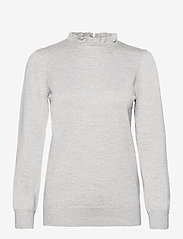 Soyaconcept - SC-DOLLIE - long sleeved blouses - lt grey melange - 0
