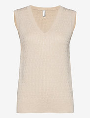 Soyaconcept - SC-DOLLIE - knitted vests - cream melange - 0