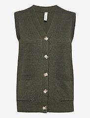 Soyaconcept - SC-DOLLIE - knitted vests - dark army melange - 0
