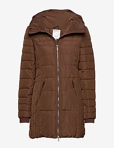 SC-NINA - wyściełane płaszcze - cocoa