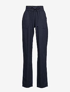 SC-AKILA CHAMBREY - pantalons casual - dark blue denim