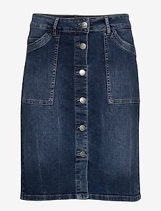 SC-GELA - jeansowe spódnice - medium blue denim
