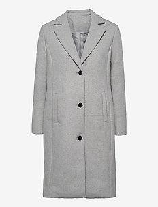 SC-ASTA - manteaux en laine - lt grey melange