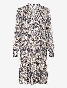SC-KENDRA - robes midi - dusty blue combi