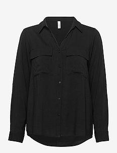 SC-RADIA - pitkähihaiset paidat - black