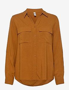 SC-RADIA - long-sleeved shirts - dark caramel