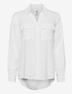 SC-RADIA - long-sleeved shirts - offwhite