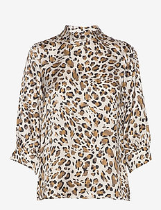 SC-DEBOA - bluzki z długimi rękawami - golden brown combi