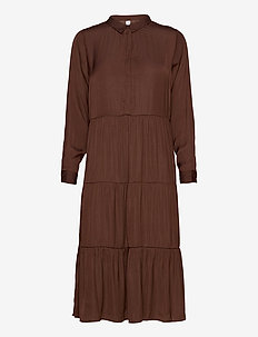 SC-PAMELA - shirt dresses - brown