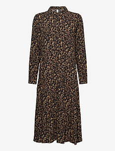 SC-LIOBA - shirt dresses - brown combi