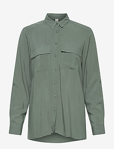 SC-RADIA - long sleeved blouses - shadow green