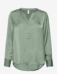 SC-PAMELA - blouses med lange mouwen - shadow green