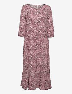 SC-ODELIA - sommarklänningar - dark pink rose combi