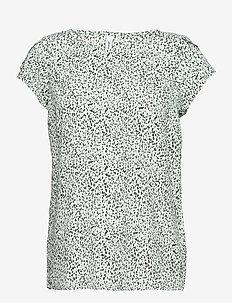 SC-SOLEA - short-sleeved blouses - aqua combi