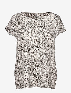 SC-SOLEA - short-sleeved blouses - offwhite combi