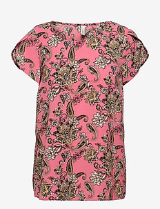 SC-SOLEA - short-sleeved blouses - pink combi