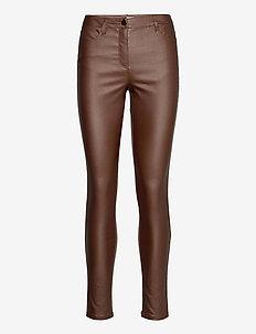 SC-PAM - læderbukser - brown