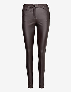 SC-PAM - leather trousers - maroon