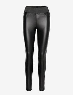 SC-PAM - læderbukser - black