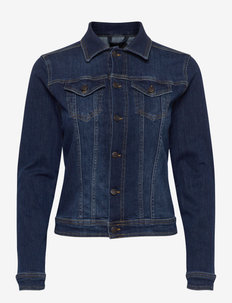 SC-KIMBERLY - jeansjakker - dark blue denim
