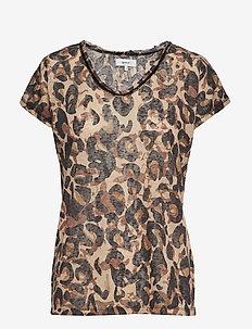 SC-ARETHA - bluzki z krótkim rękawem - tan combi