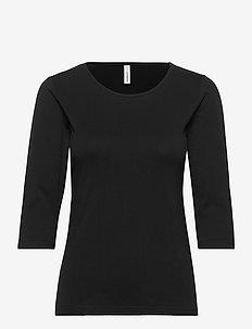 SC-PYLLE - pitkähihaiset t-paidat - black