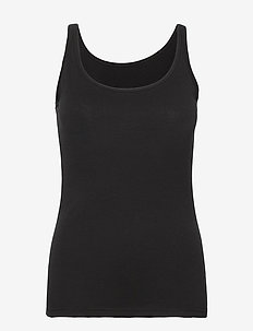 SC-PYLLE - sleeveless tops - black