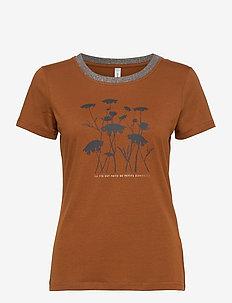 SC-PYLLE FP - logo t-shirts - dark caramel
