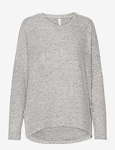 SC-BIARA - jumpers - lt grey melange