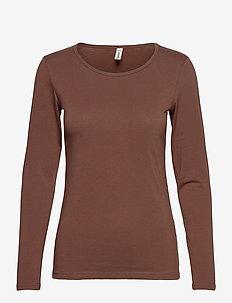 SC-PYLLE - long-sleeved tops - brown