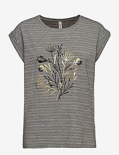 SC-LUCINA - t-shirts - med. grey melange combi