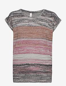 SC-GALINA - t-shirts - dark pink rose combi