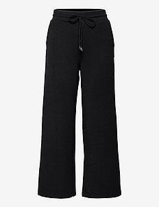 SC-BANU - bukser med brede ben - black