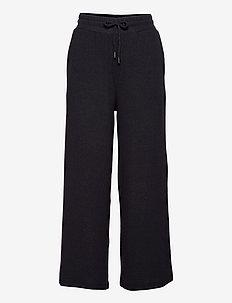 SC-BIARA - bukser med brede ben - dk grey melange