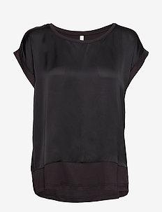 SC-THILDE - blouses med korte mouwen - dark earth