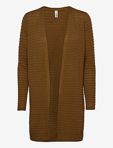 SC-NIAKA - swetry rozpinane - dark caramel melange