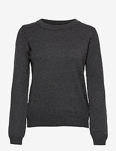 SC-BLISSA - trøjer - dk grey melange