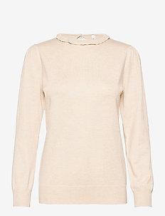 SC-DOLLIE - blouses med lange mouwen - cream melange