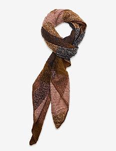 SC-KASMIRA - scarves - dark caramel combi