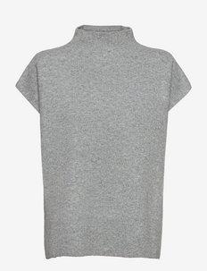 SC-RINIE - stickade toppar - med. grey melange
