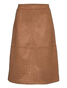 SC-LEANE - jupes midi - suede brown