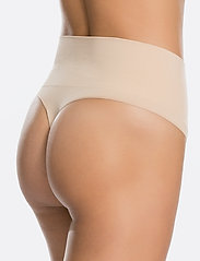 Spanx - Everyday Shaping Panties Thong - bottoms - soft nude - 4
