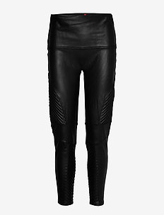 MOTO LEGGINGS - læderbukser - very black