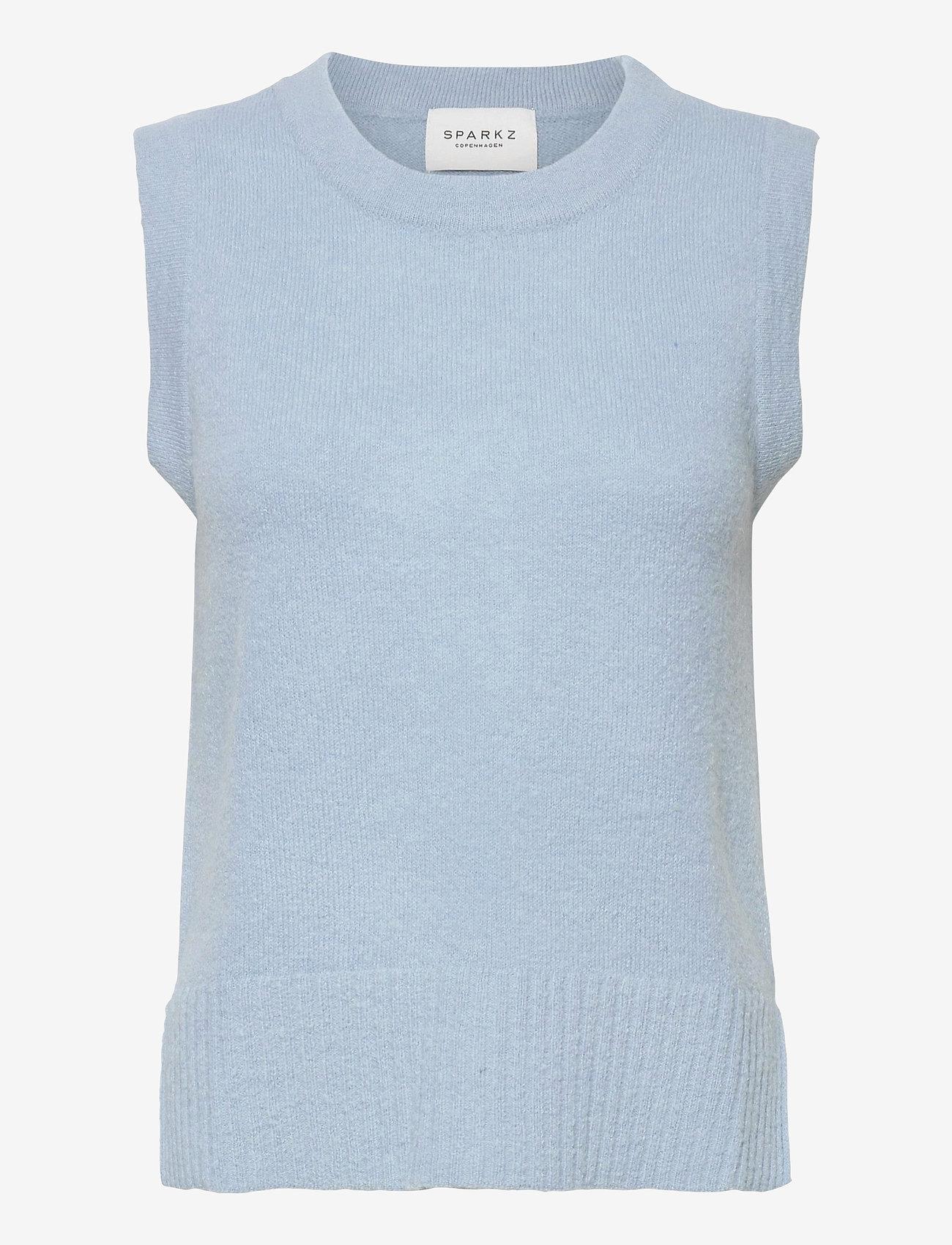 SPARKZ COPENHAGEN - LISSIE KNITTED VEST - knitted vests - powder blue - 0