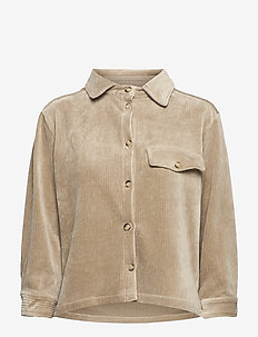 LOURDES CORDUROY SHIRT - long-sleeved shirts - sage