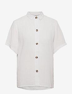 HARRIET SHIRT SS - short-sleeved shirts - off white
