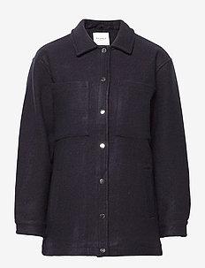 KAORI SOLID JACKET - light jackets - navy