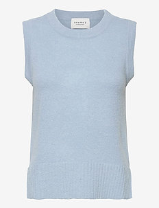 LISSIE KNITTED VEST - knitted vests - powder blue